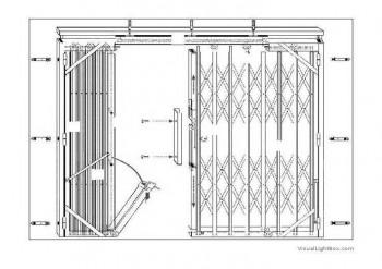 puerta ballesta metalica