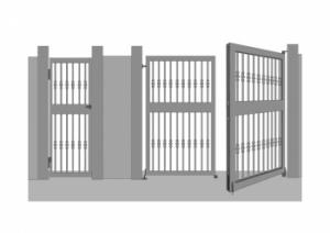 puertas acceso peatonal