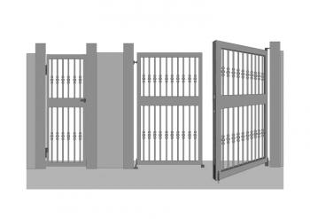 puerta cancela metalica